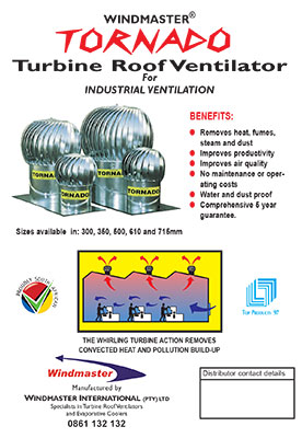 Windmaster Tornado Industrial Ventilation Brochure