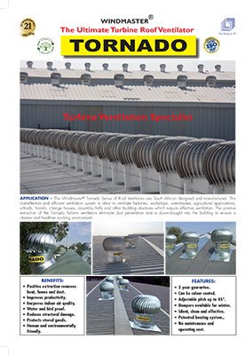Tornado Turbine Roof Ventilator Brochure