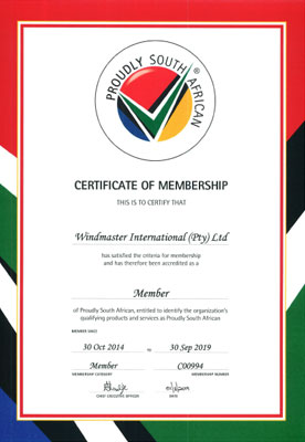 Proudly South African Certification